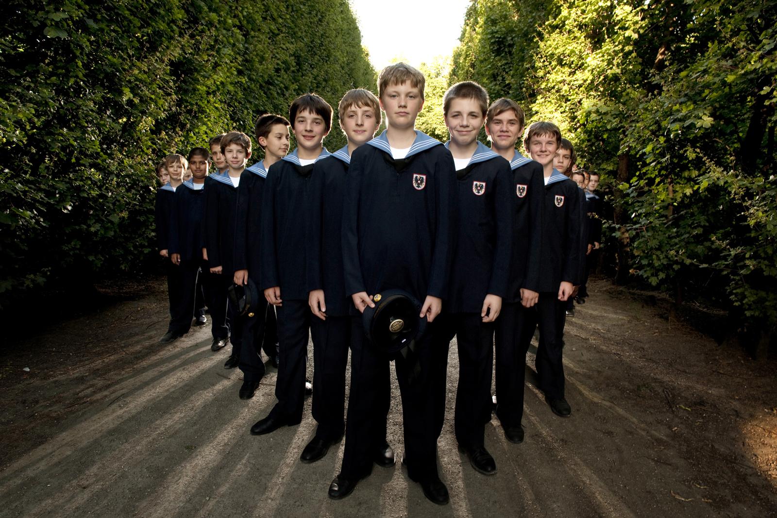 Members of the Vienna Boys Choir