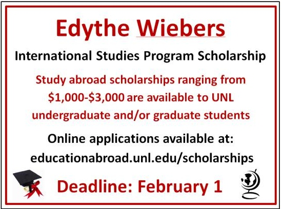 Edythe Wiebers International Studies Program Scholarship