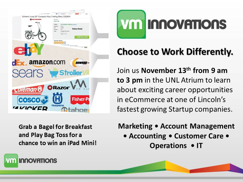 This week's CBA Employer in Residence is VMInnovations on Tuesday, November 13.