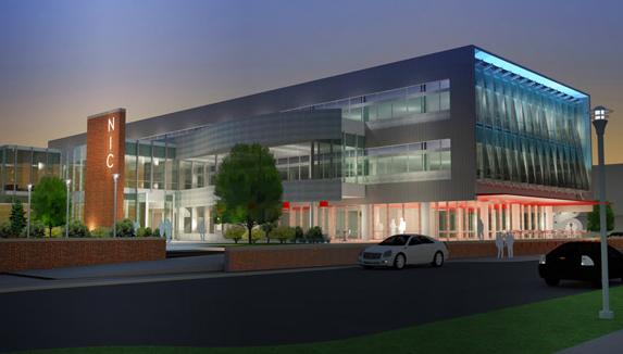 Drawing of the Companion Building, part of the first phase of Nebraska Innovation Campus.