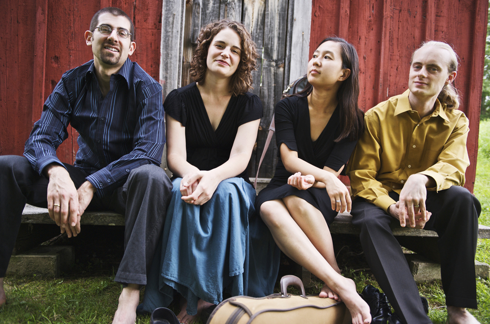 Members of the Chiara Quartet (from left) Jonah Sirota, Rebecca Fisher, Hyeyung Julie Yoon and Gregory Beaver.