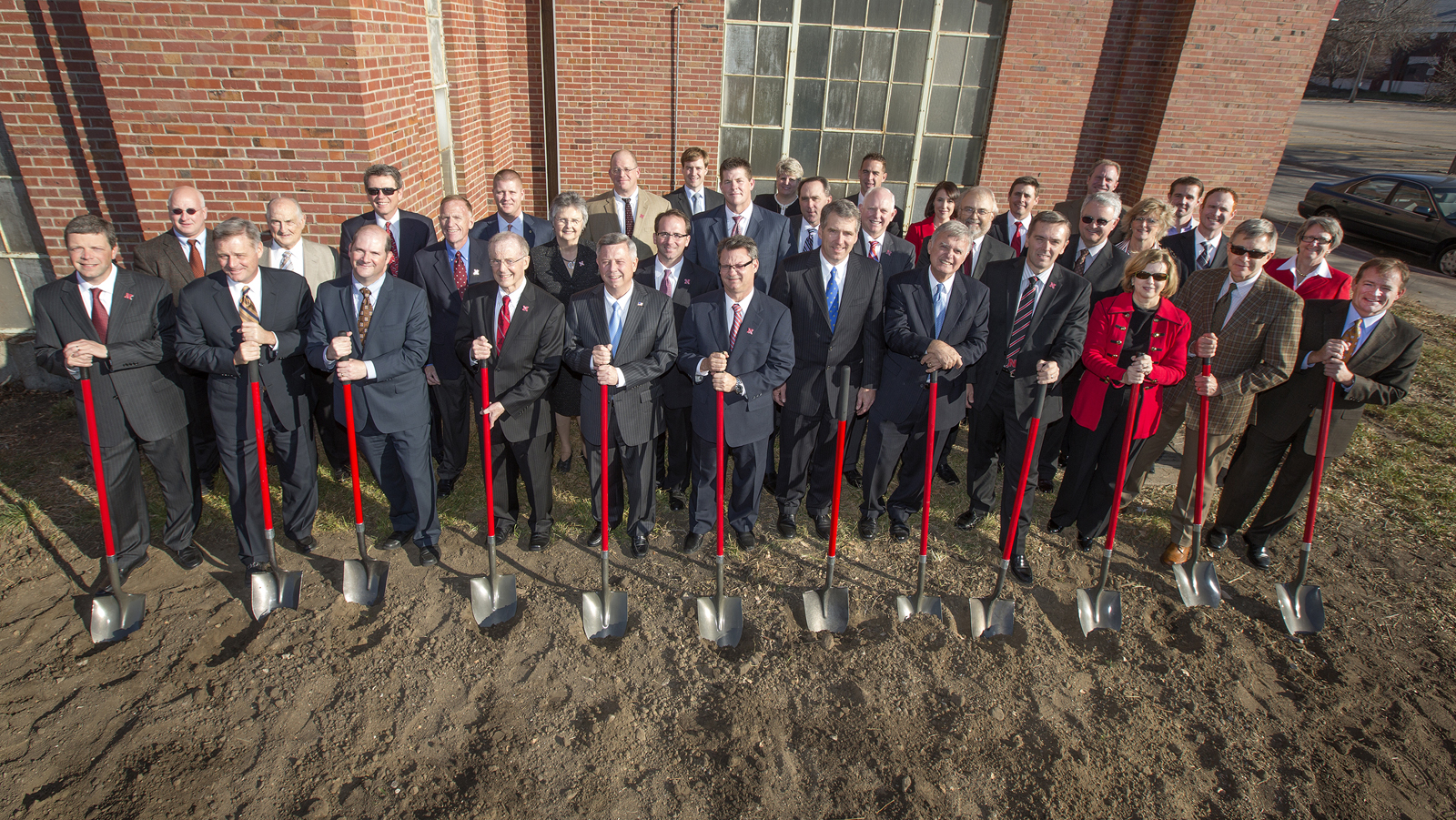 A ceremonial Nebraska Innovation Campus groundbreaking was part of the Nov. 16 announcement on the expanded collaboration between UNL and ConAgra Foods.
