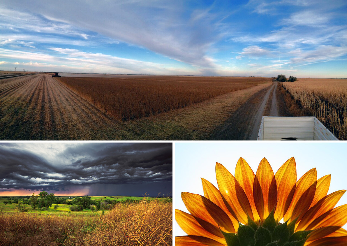 Winning images and photgraphers from the statewide photo contest were (clockwise from top) Ken Bruce of Grand Island, Benjamin Vogt of Lincoln, and Bradley Jensen of Omaha.
