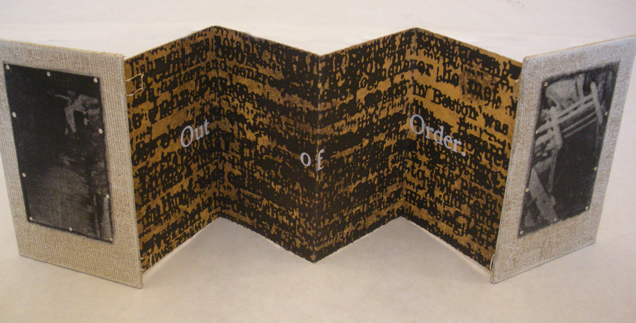 Book work created by Scott Cook, a Master of Fine Arts student in the UNL Department of Art and Art History.