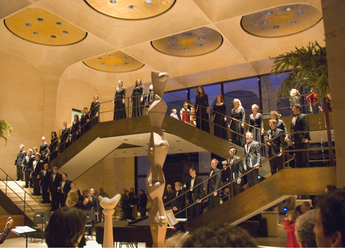 The Chamber Singers will perform Dec. 7 in the Great Hall of Sheldon Museum of Art.