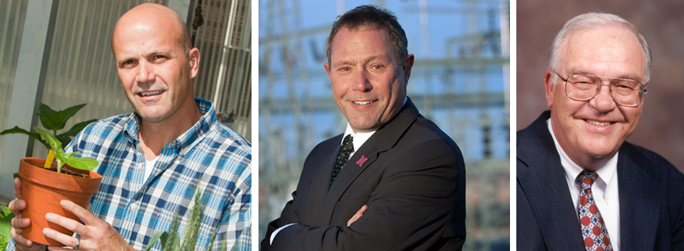 UNL's newest AAAS fellows (from left) James Alfano, Mike Nastasi and L. Dennis Smith.