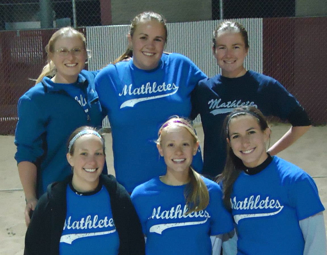 The Mathletes are champions of the women's league 'C' division in 4-on-4 Sand Volleyball.