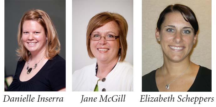 Papillion-La Vista math coaches Danielle Inserra, Jane McGill and Elizabeth Scheppers