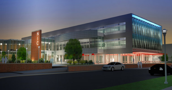"""Concept drawing of the Nebraska Innovation Campus """"Companion Building."""""""