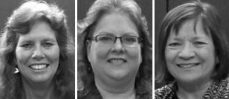 UNOPA presented 2012 Oldt awards to (from left) Tamera Brennan, Karen Jackson and Cheryl Wemhoff.