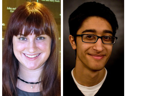Reed, left, and Siddiqui, placed fourth and third, respectively, in recent Hearst journalism competitions.