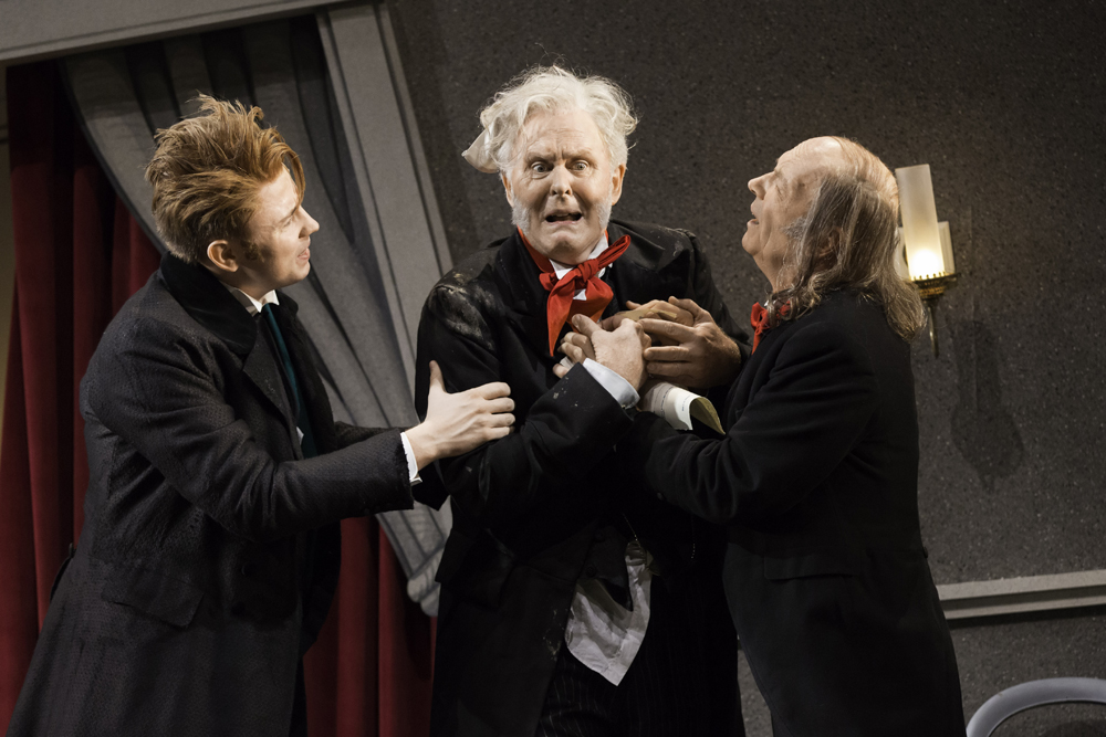 """Alexander Cobb, John Lithgow, and Roger Sloman in """"The Magistrate"""""""