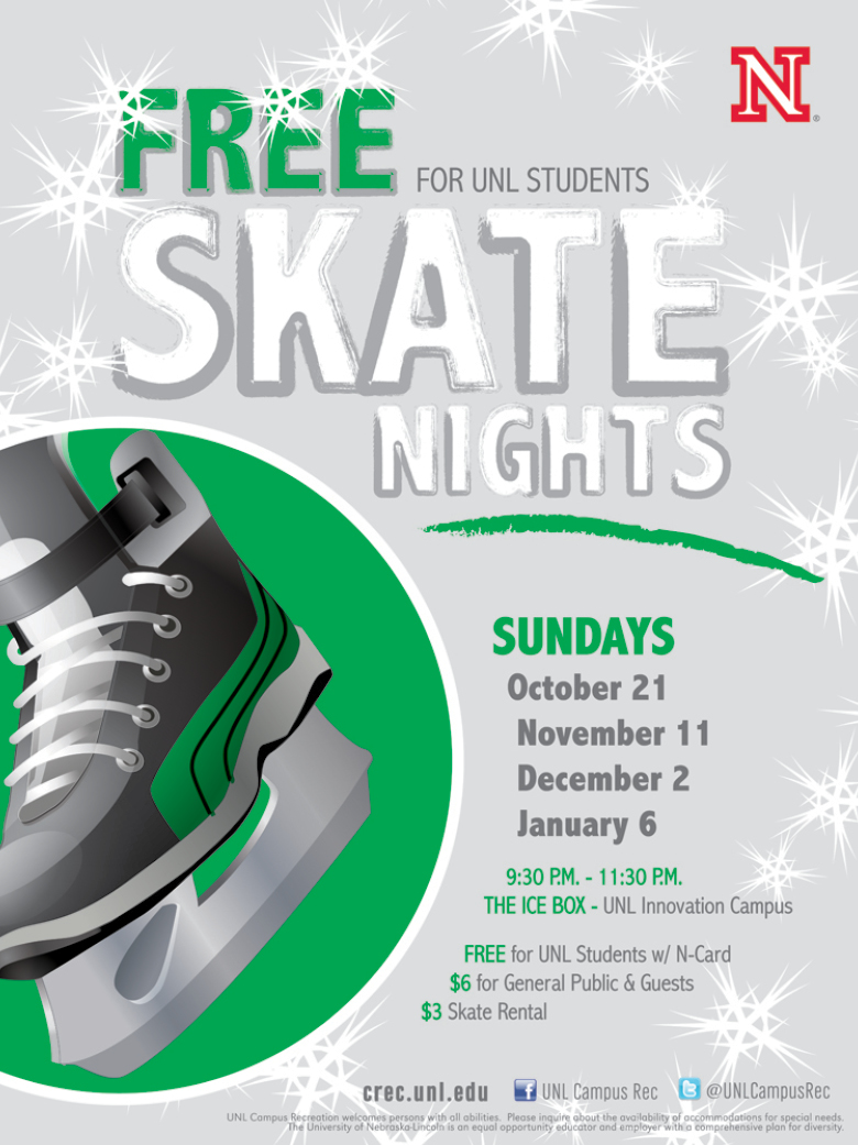 Future free skate nights are Feb. 3, Feb. 17, Mar. 3, and Mar. 24.