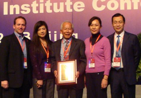 Bill Nunez (from left), Rachel Zeng, David Lou, Susan Song, Pingan Huang.