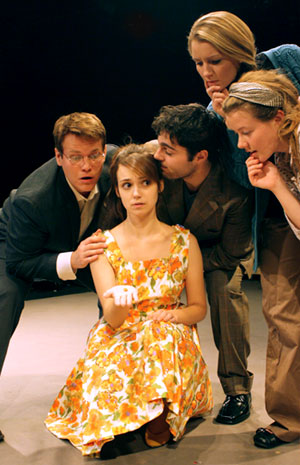 (From left) Billy Jones, Jessie Tidball, David Michael Fox, Lucy Myrtue and Jenny Holm star in Theatrix's Melancholy Play, which will be performed at the Region V KCACTF.
