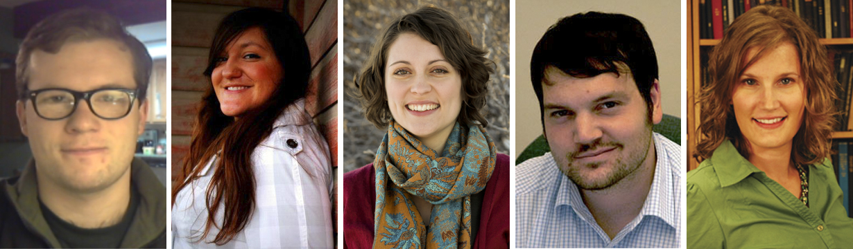 The new graduate fellows announced by the Center for Great Plains Studies are (from left) John Fitzpatrick, Alicia Harris, Aubrey Streit King, Robert Shepard and Rebecca Wingo.