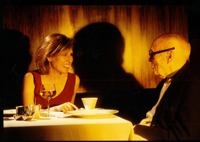 Hilary Lewis with Philip Johnson in 2002. Richard Leslie Schulman | Courtesy photo