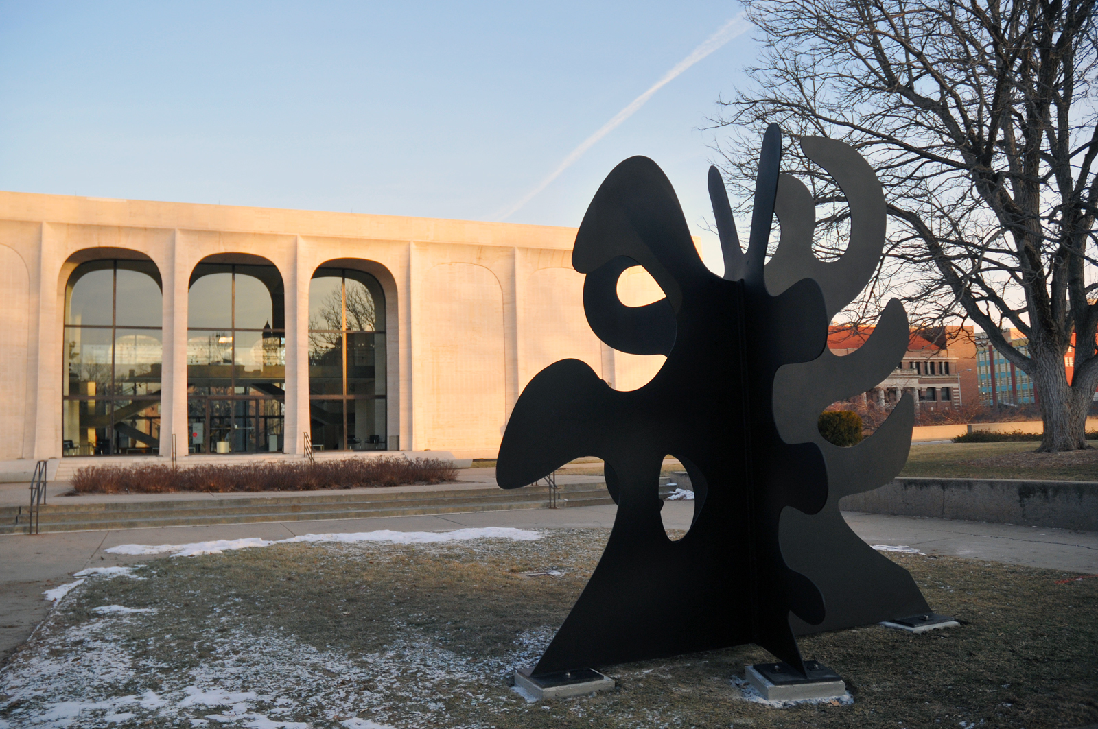"Alexander Calder's sculpture ""Tripes"" is on display on the west side of the Sheldon Museum of Art. It will be on display through October."