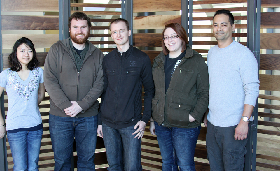 Members of the SEER team are (from left) Hong-Yen Hoang, Robert Boulter, Timothy Struble-Larsen, Sara Shinn and Marc McCaslin.