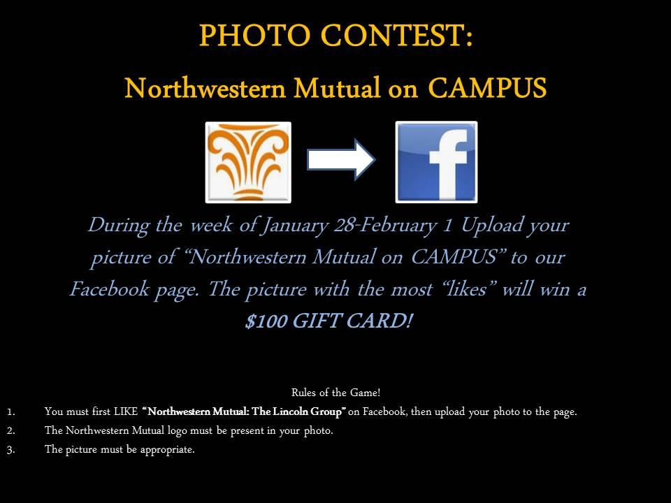 Enter the Northwestern Mutual on CAMPUS! photo contest!