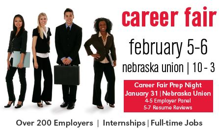Prepare for the Career Fair at the Career Fair Prep/Resume Review Night on January 31, 2013.