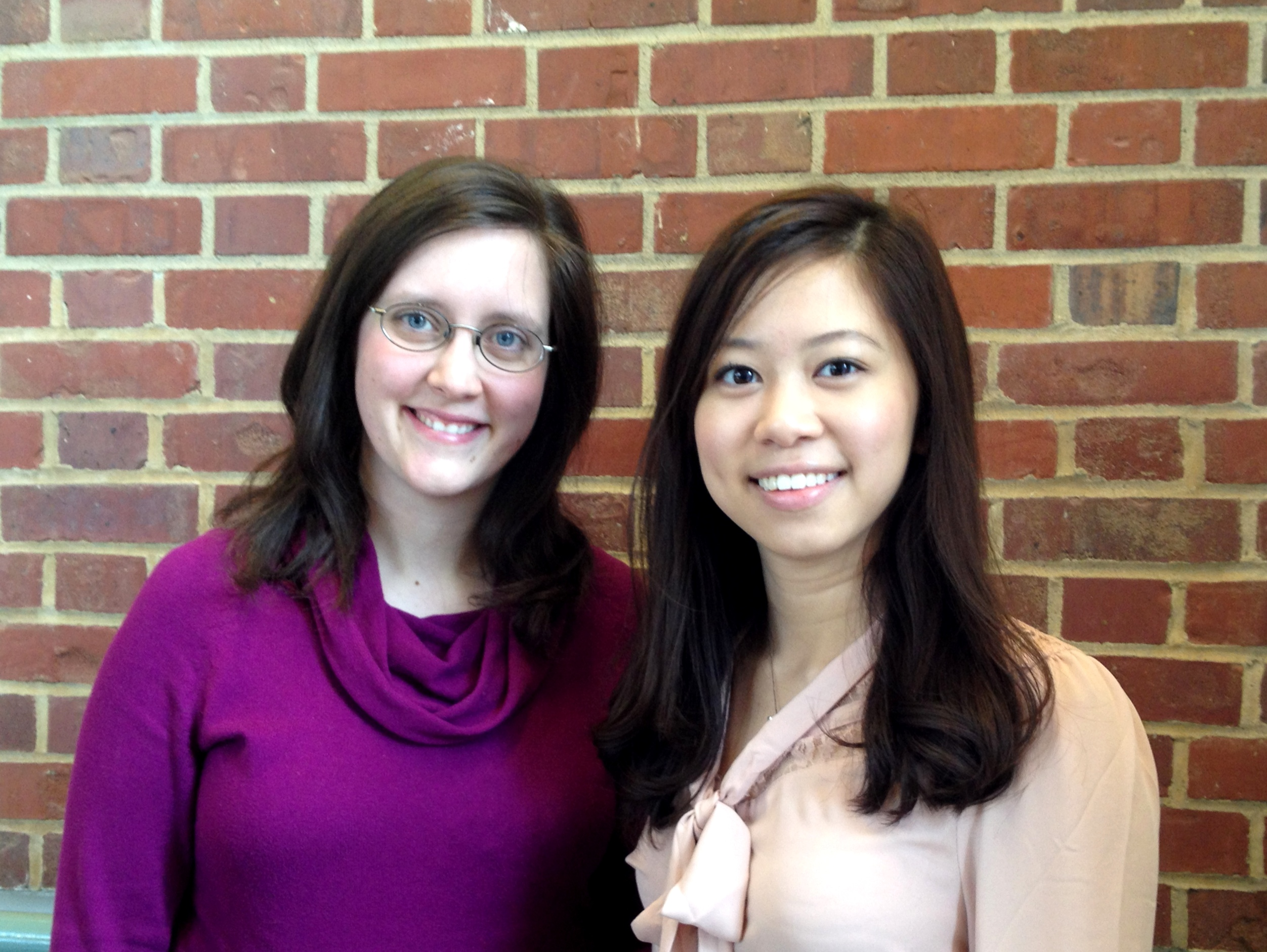 (From left) Rose Walsh and Yen Ven (Vivian) Loh.