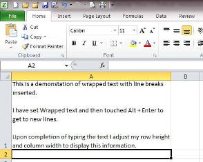 how to break cell text in excel start a new line of text inside cell office supportseparating. Black Bedroom Furniture Sets. Home Design Ideas