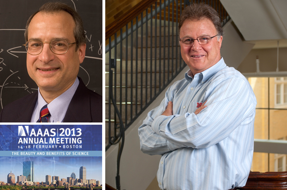 UNL's Ken Cassman (right) and Anthony Starace were among the featured presenters at the AAAS annual meeting.