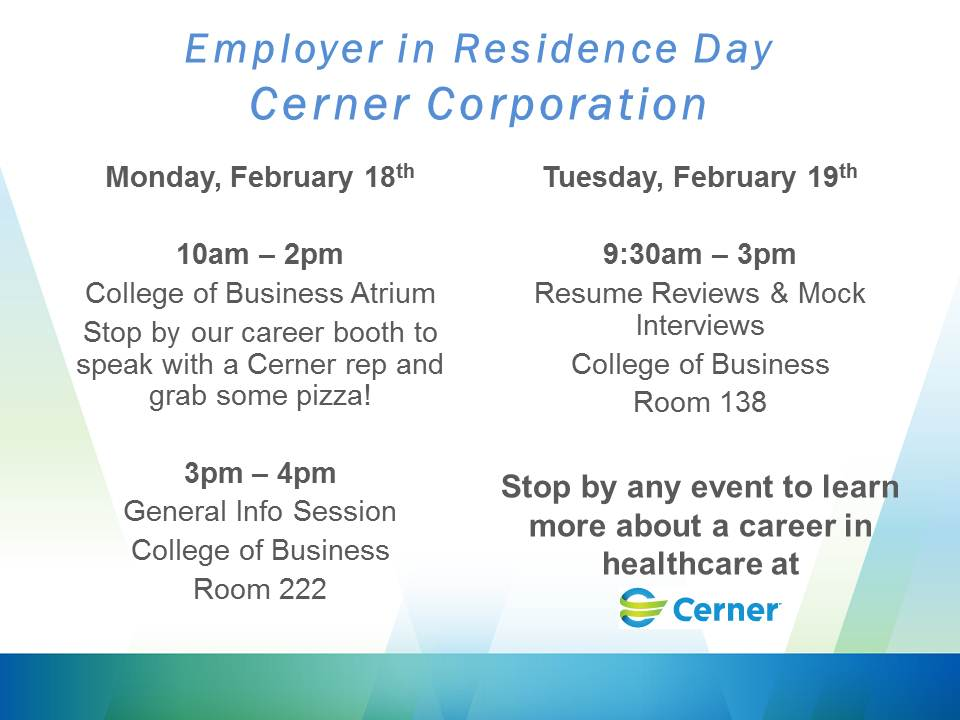Cerner is this week's CBA Employer in Residence.