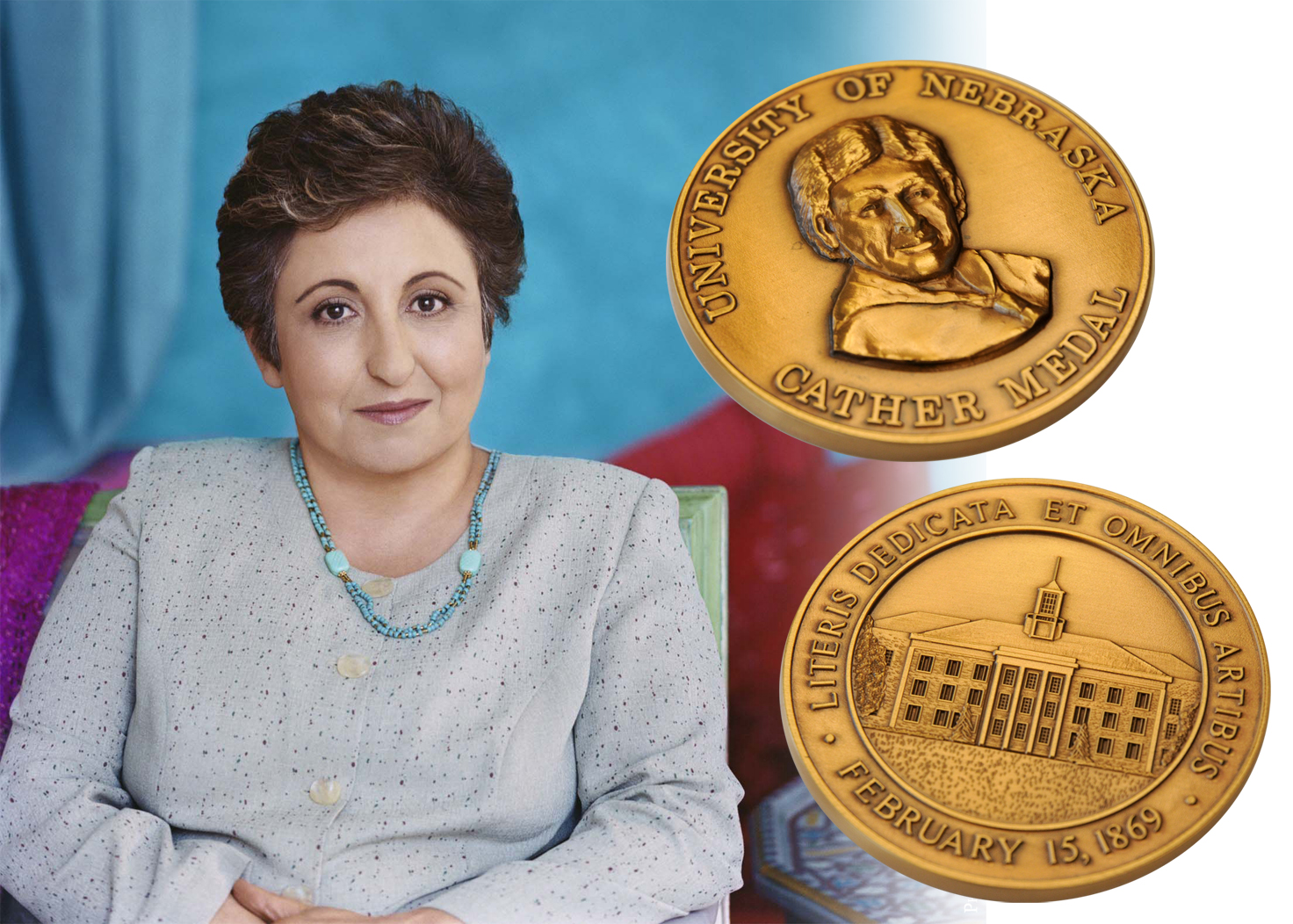 Shirin Ebadi, a human rights activitst and Nobel Peace Prize winner, will receive a Cather Medal from UNL.