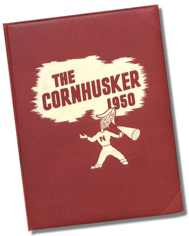 """Cover of the 1950 """"Cornhusker"""" yearbook."""