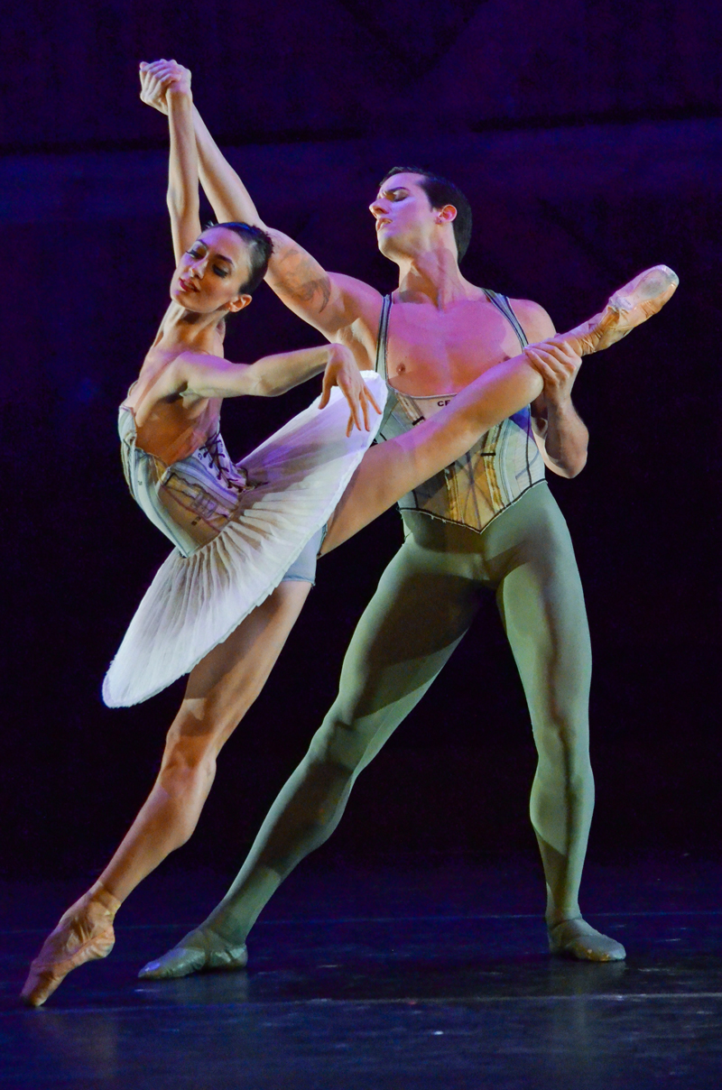 Victoria Jaiani and Miguel Angel Blanco of the Joffrey Ballet. (Courtesy photo)