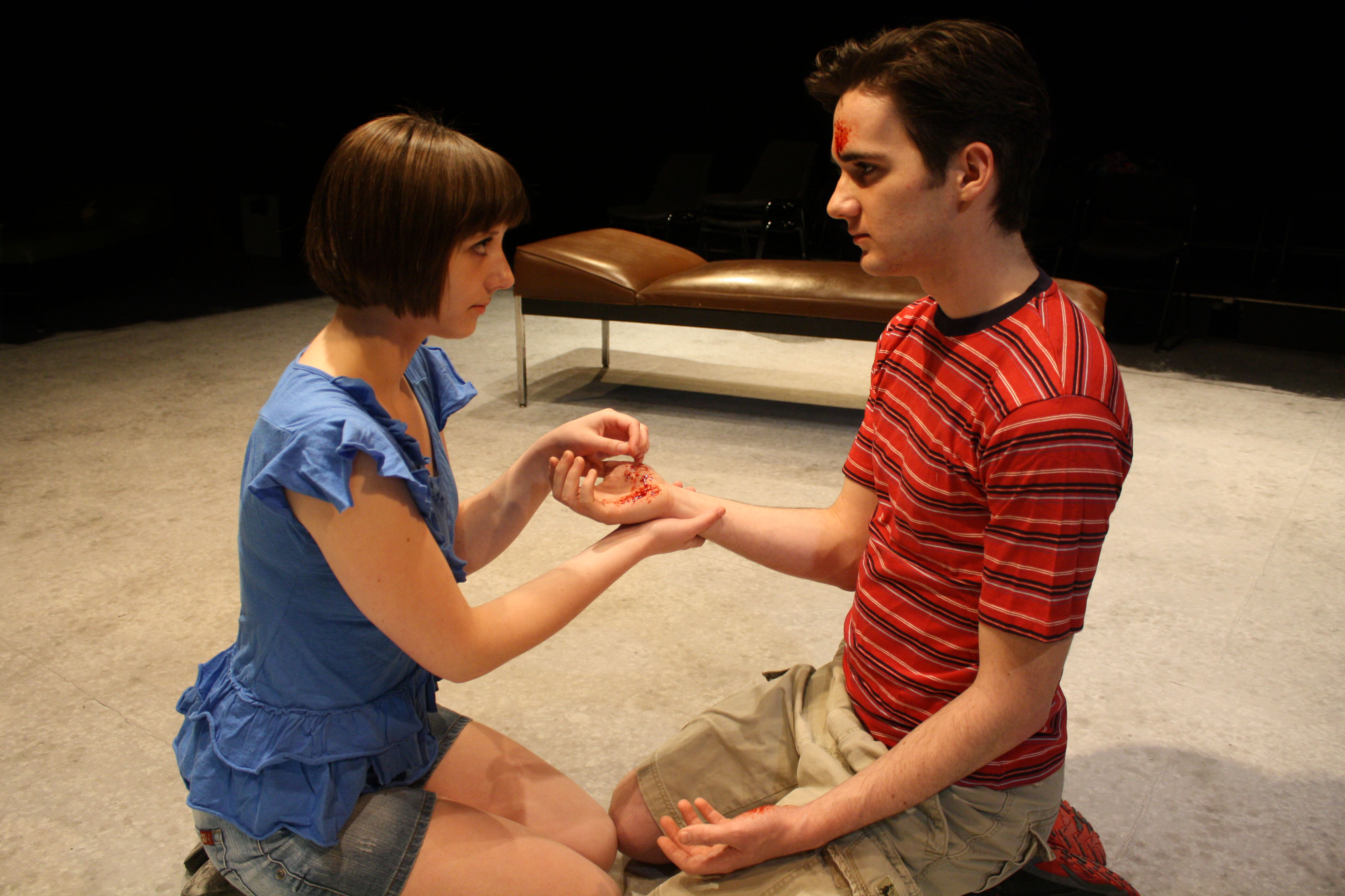 """Kirstie Smith and Patrick Stayer are featured in """"Gruesome Playground Injuries."""""""