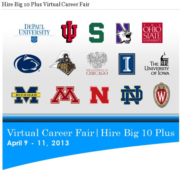 Register today for the Hire Big 10 Plus Virtual Career Fair.