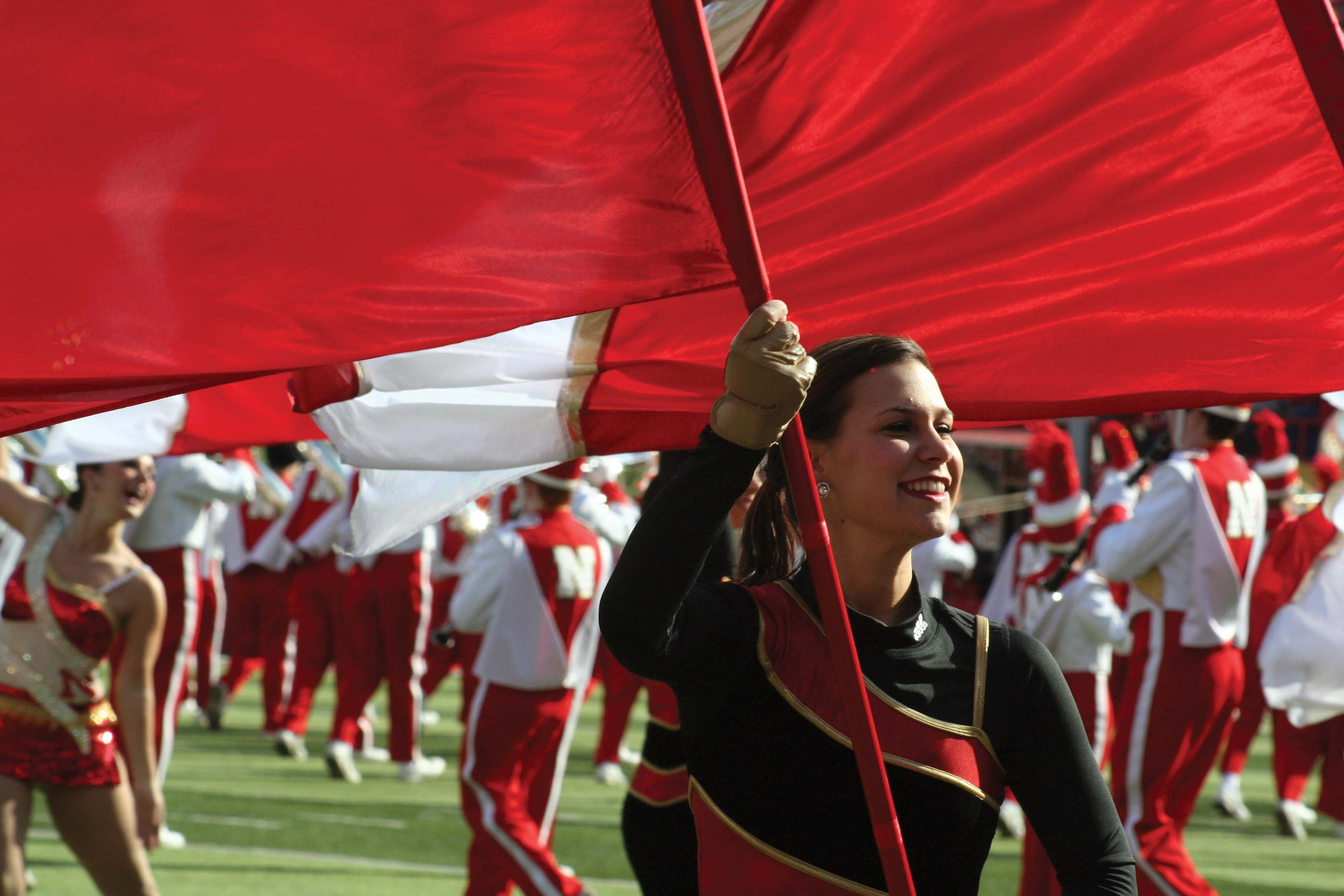 Cornhusker Marching Band's Color Guard