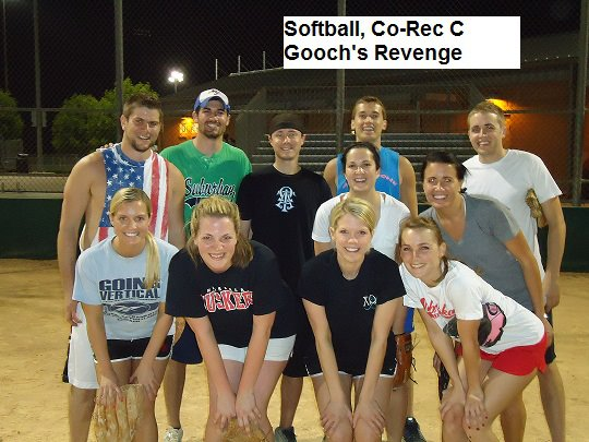 Gooch's Revenge was last year's Co-Rec Softball C League champions.