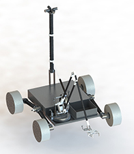 "UNL's RASC-AL Robo-Ops team has developed this rover design, ""Rover of the Corn,"" which it is building for competition this June at NASA's Johnson Space Center."