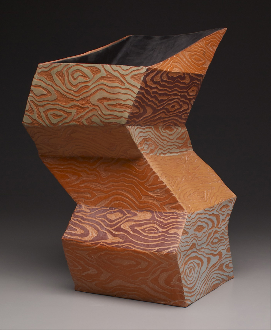 "Cortland Jade Kerwin, ""Doubt,"" earthenware with terra sigillata sgraffito, 2012. (Courtesy photo)"