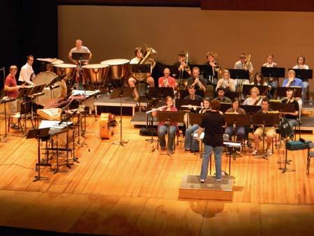 UNL's Wind Ensemble is directed by Carolyn Barber, associate professor of music.