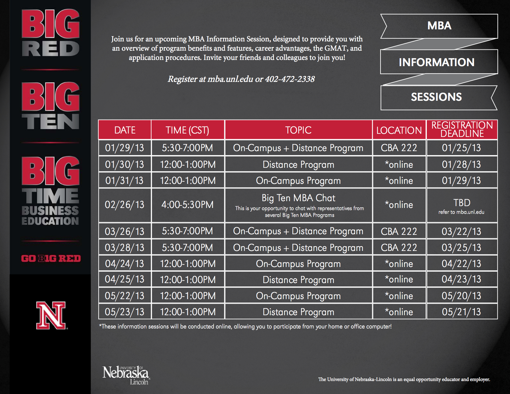 MBA Information Session Dates