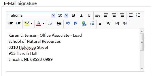 webmail signature