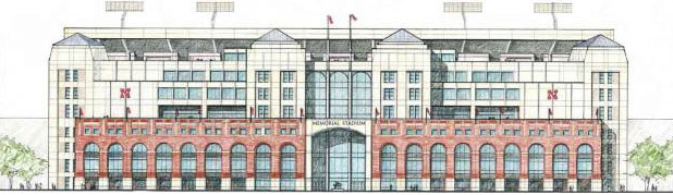 Drawing of the Center for Brain, Biology and Behavior in East Memorial Stadium. (Courtesy image)