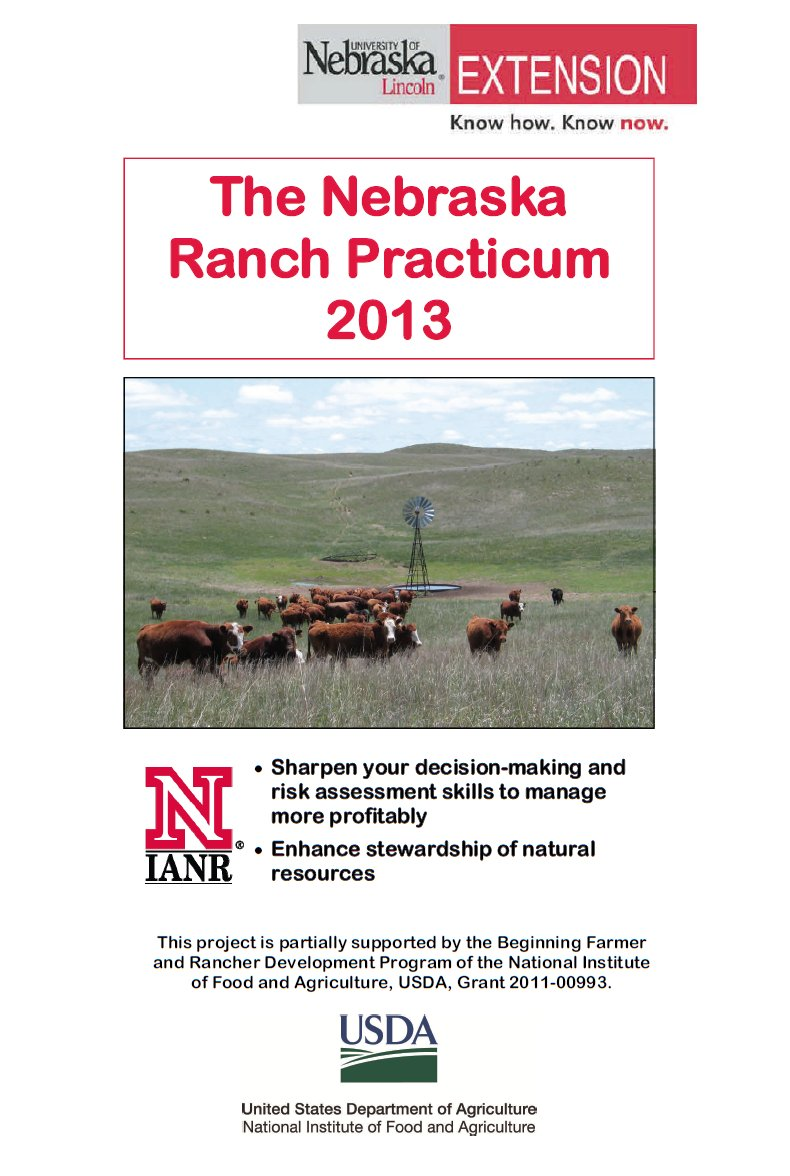 2013 Nebraska Ranch Practicum
