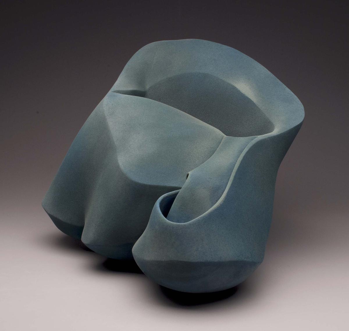"Alix Knipe, ""Nimbus,"" earthenware, 18""h x 20""w x 16""d, 2013."