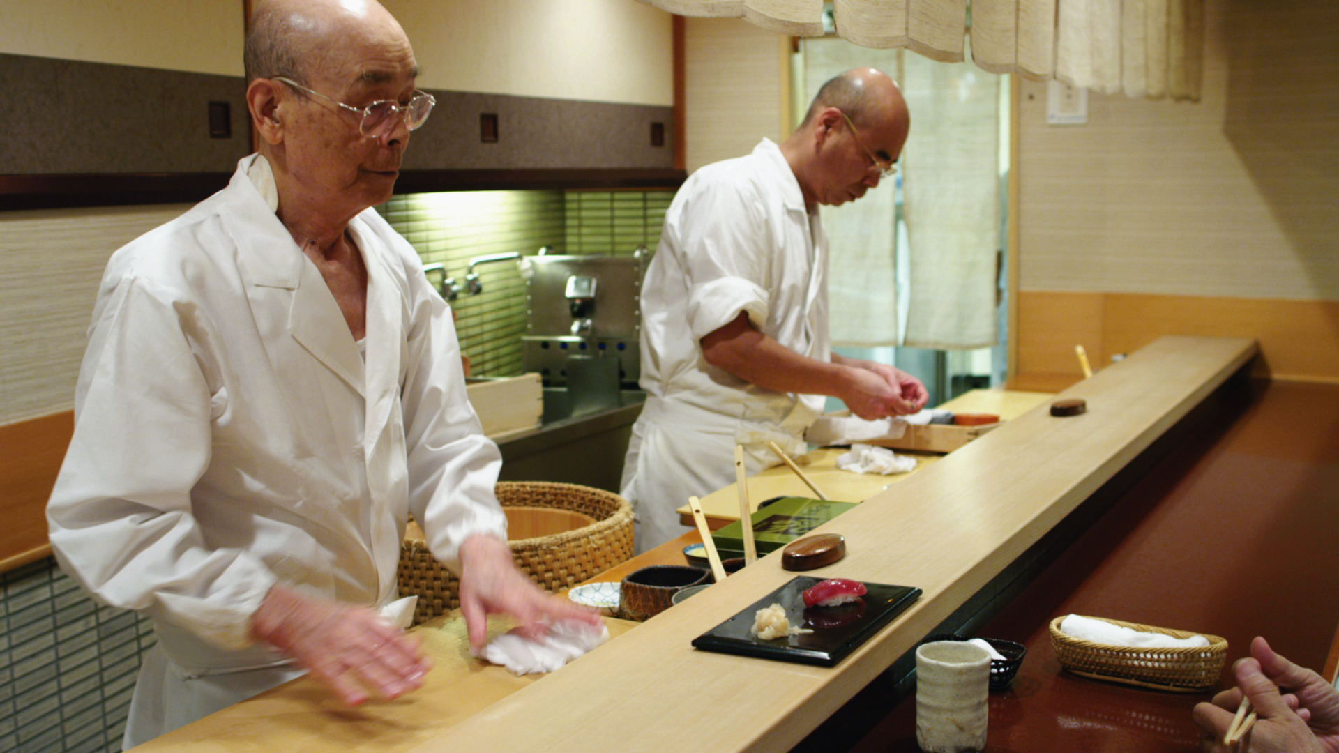 "A scene from the movie ""Jiro Dreams of Sushi."""