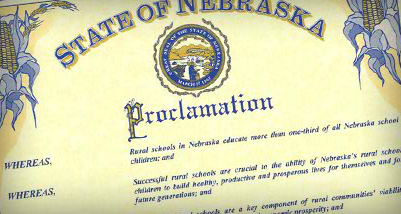 Gov. Dave Heineman has proclaimed April 1-6 as Rural Education Week in Nebraska.