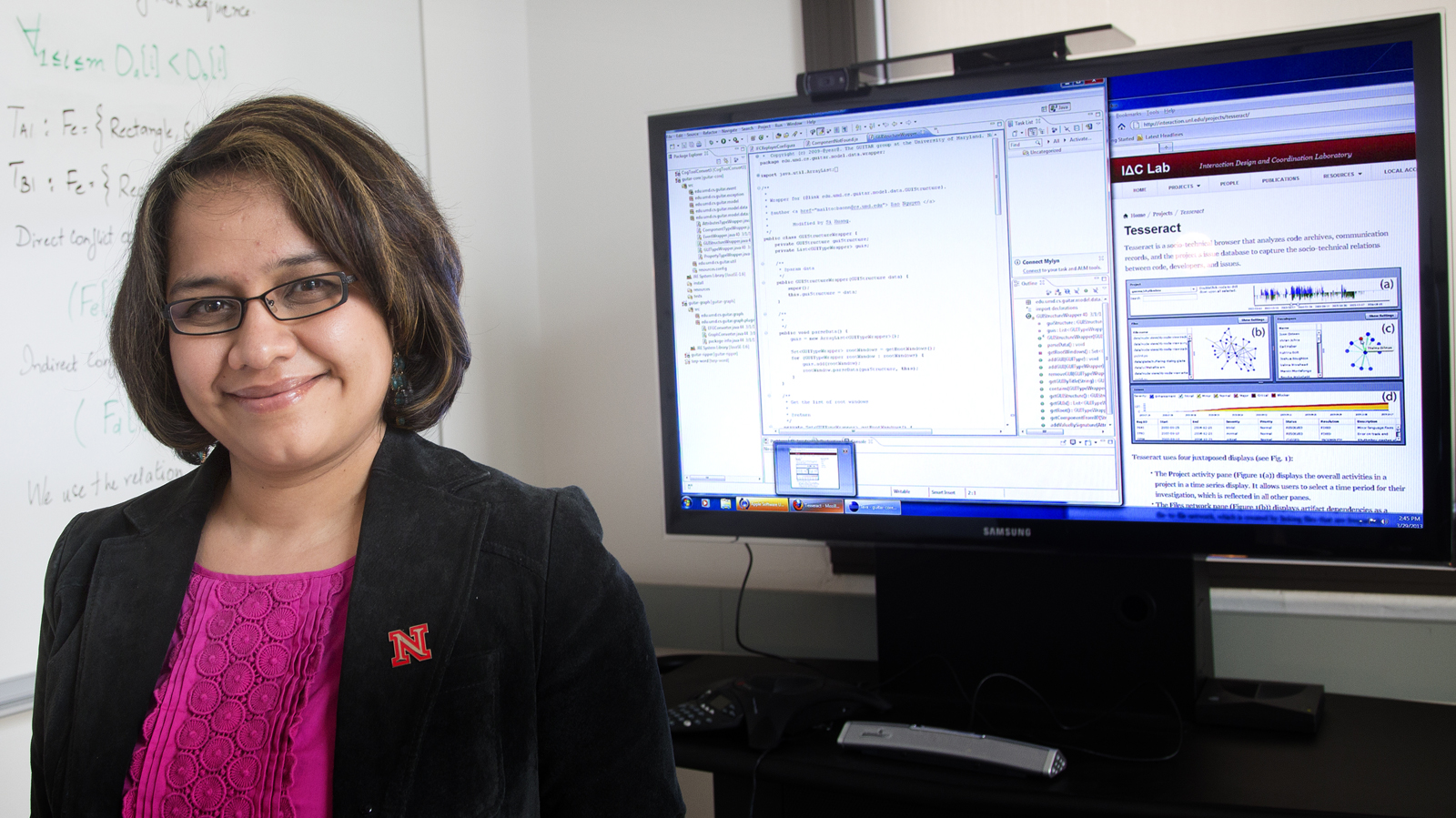 Anita Sarma (Photo by Craig Chandler, University Communications)