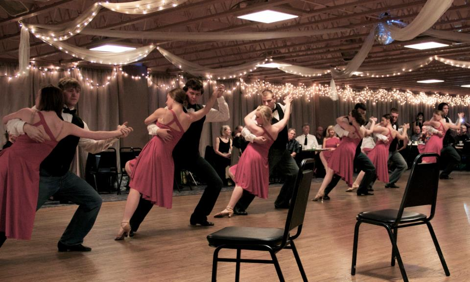 The UNL Ballroom Dance Company performs a tango in Omaha.
