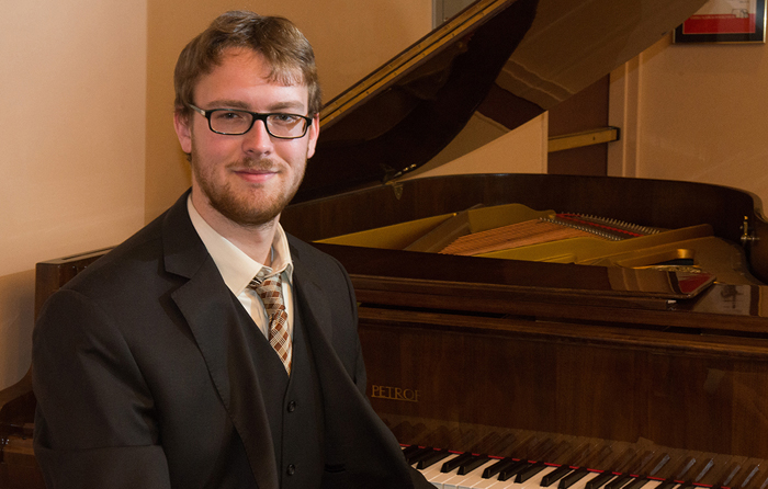 Tim Wilkins, a senior music major, has won a Fulbright Scholarship to study and teach in Bulgaria. (Greg Nathan/ University Communications)