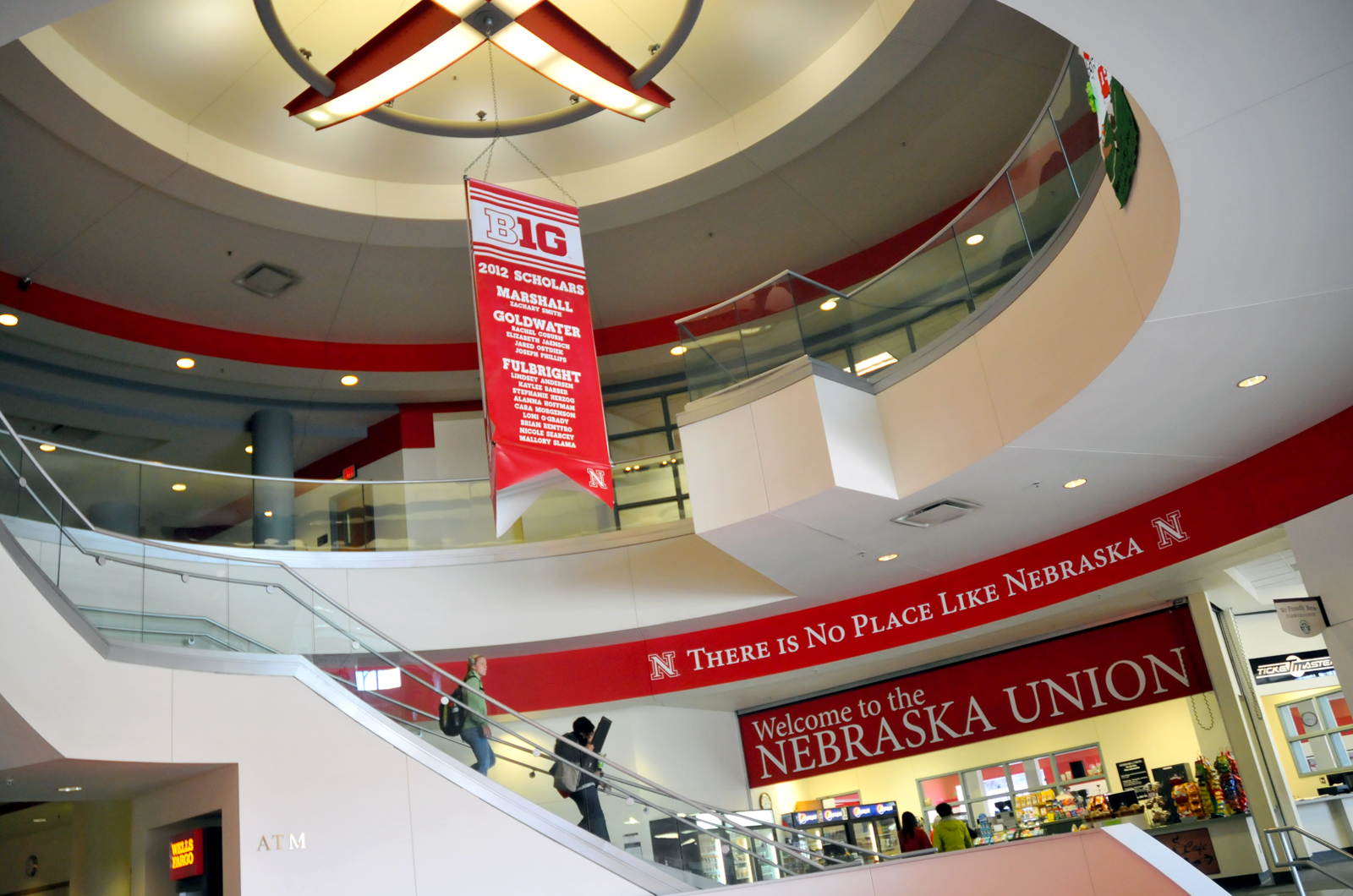 Recent branding efforts have involved adding new paint and text to walls throughout the Nebraska Union.